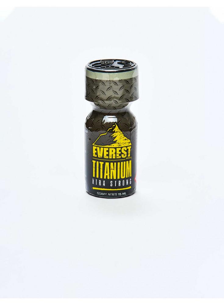 Bottle of poppers Everest Titanium 15ml yellow black