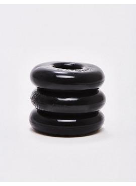 Pack of 3 black Cock Rings Flex TPR