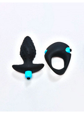 Pack Ibex Men-X Vibrating Cock Ring & plug from Rocks Off