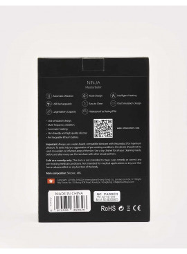Vibrating and Warming Masturbator Ninja from OTouch packaging