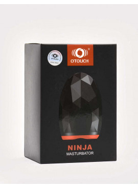 Vibrating and Warming Masturbator Ninja from OTouch front packaging