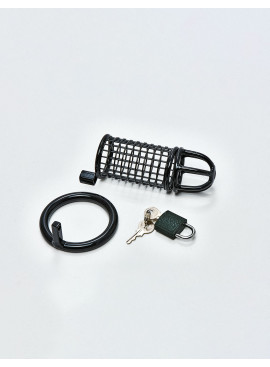 BDSM Chastity Cage from Black Line detail